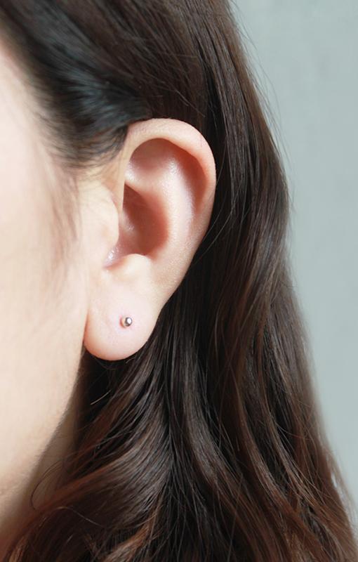 【經典款】2.5mm迷你輕巧925銀圓耳環