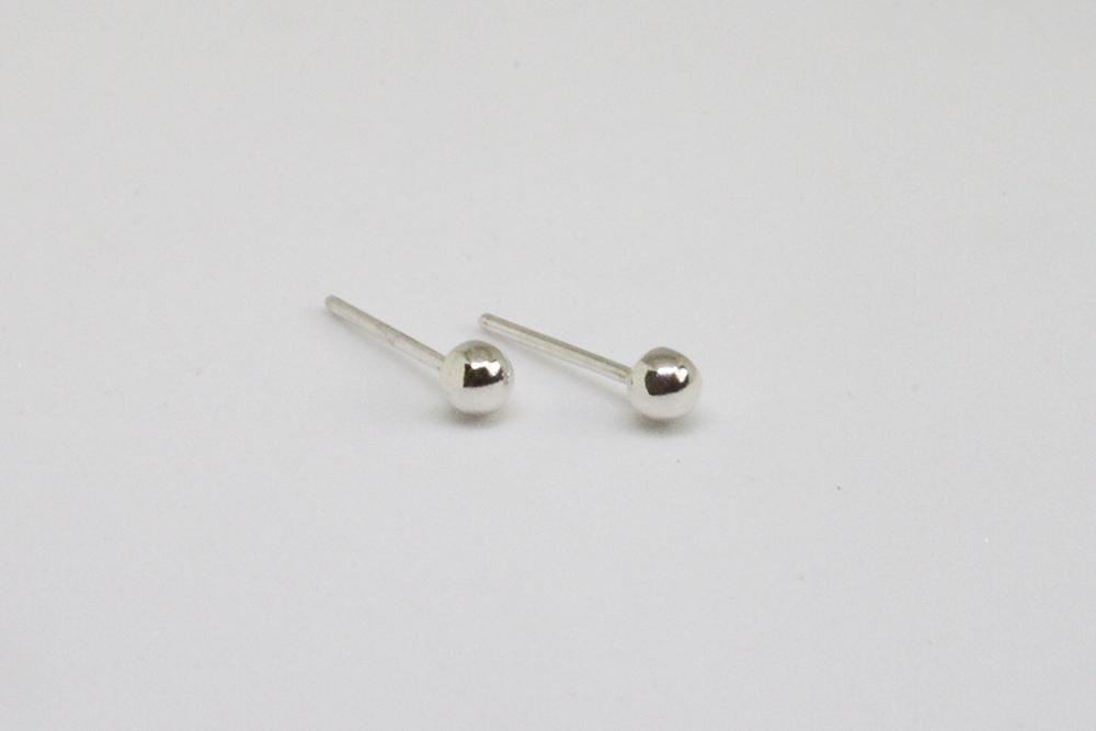 【經典款】3mm迷你輕巧925圓耳環