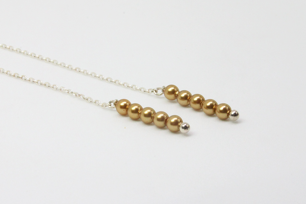 【925銀】輕柔耳環-金色/膚色