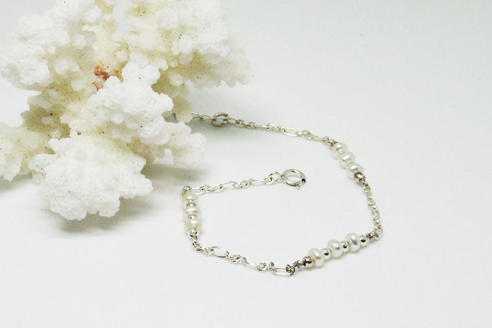 【925銀】 百搭款 段落天然珍珠手鍊