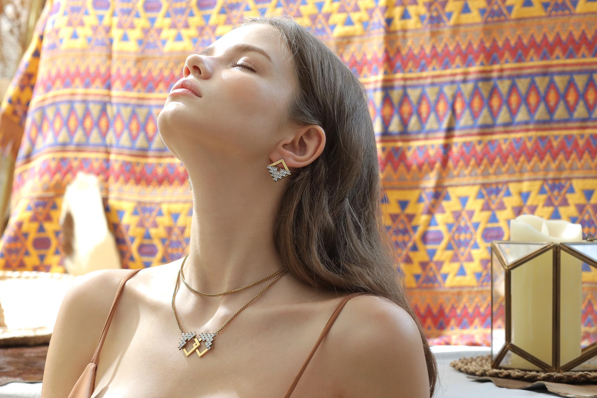 暮色流年貼式耳環