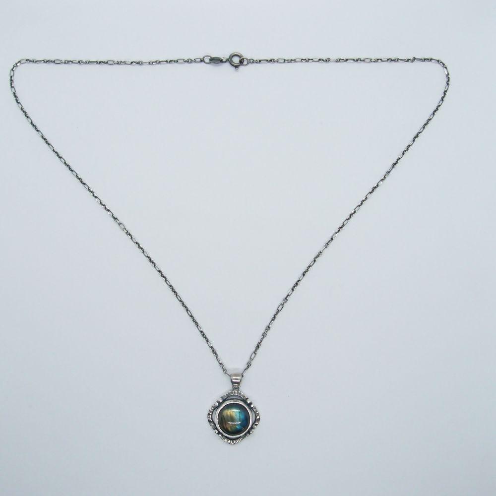 航海地圖系列4  拉長石 925銀項鍊