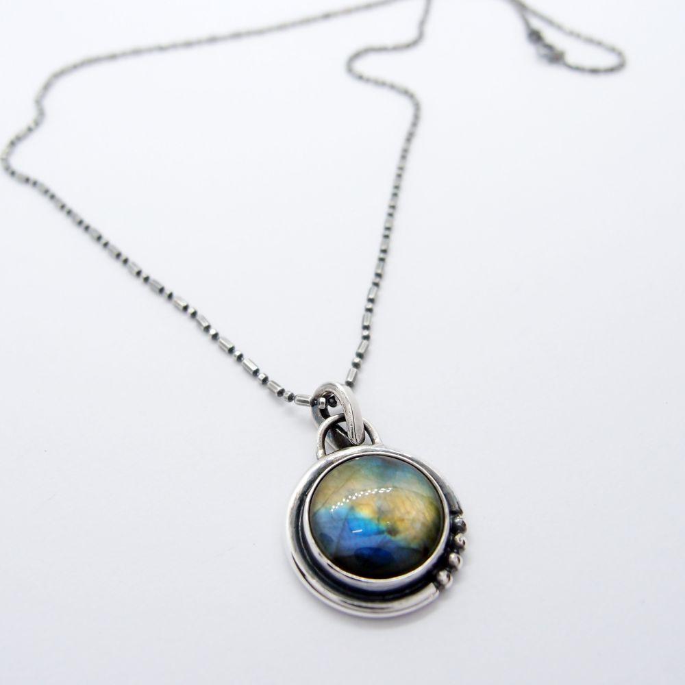 航海地圖系列11 拉長石 925銀項鍊