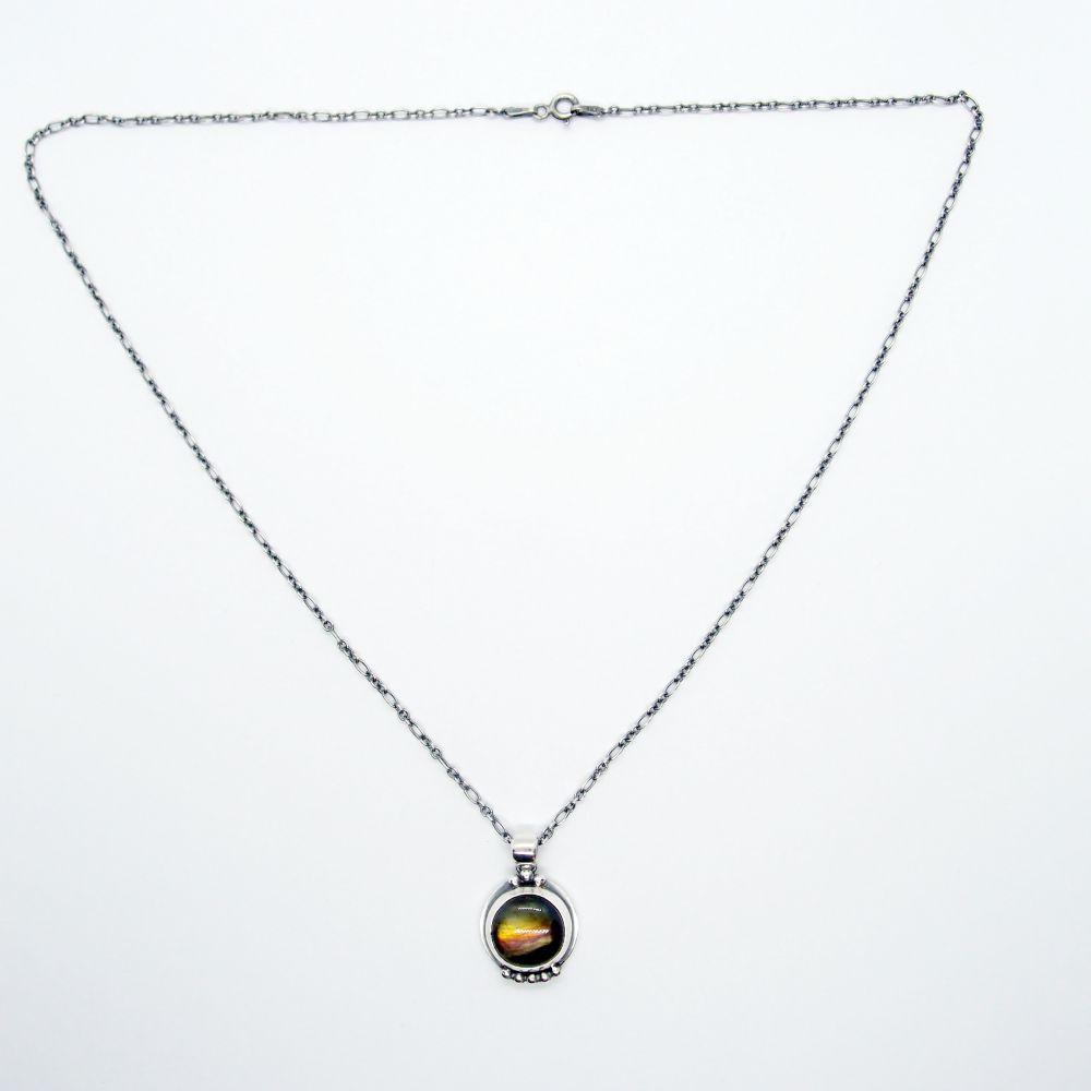 航海地圖系列19 拉長石 925銀項鍊