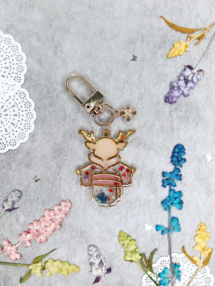 【鑰匙圈/吊飾】幸運和服鹿