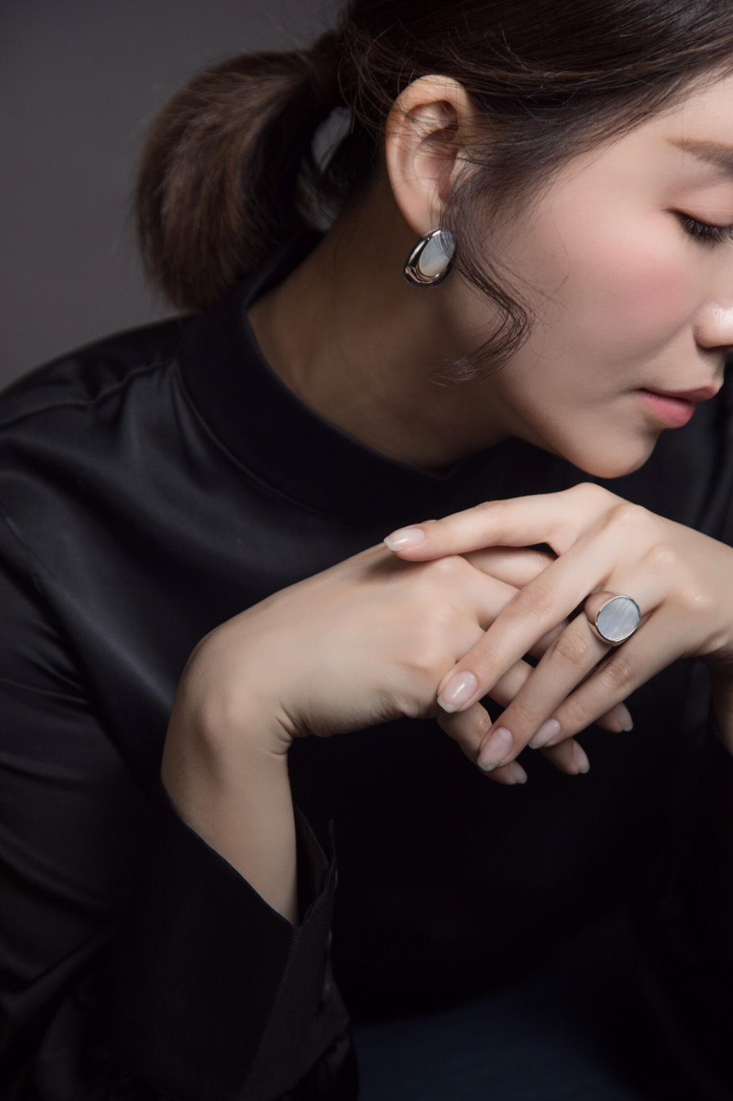幾何-橢圓耳環