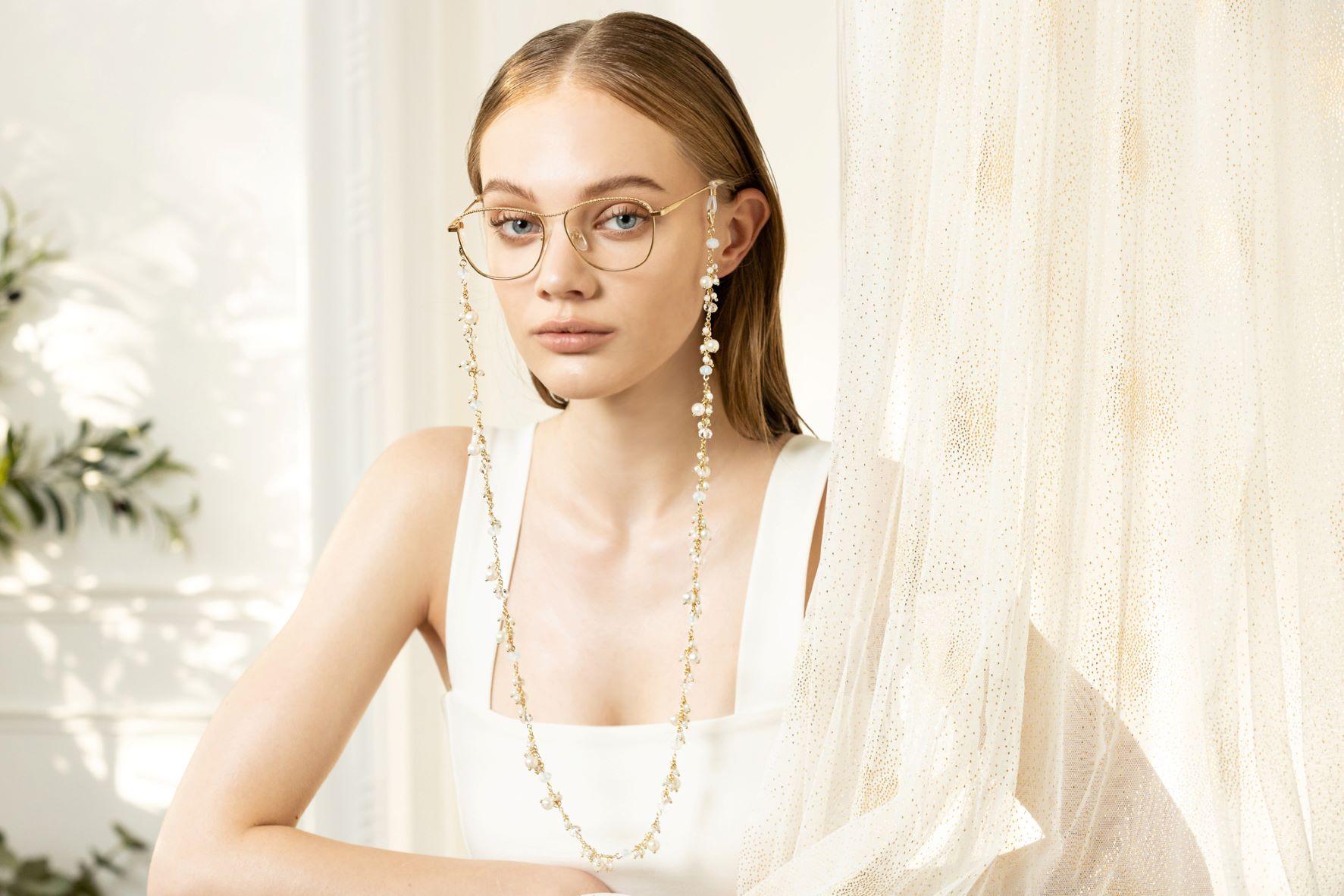 白雪瀰漫眼鏡鍊/口罩鍊