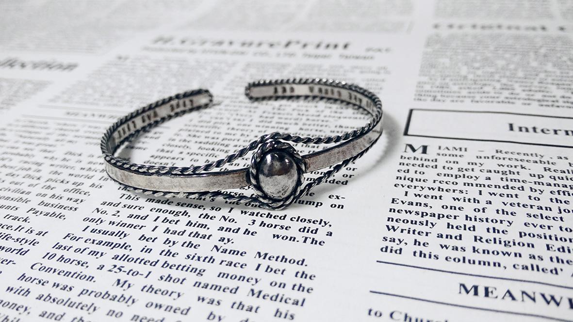 [ 太陽 ]歐式復古純銀手環/悄悄話/個性