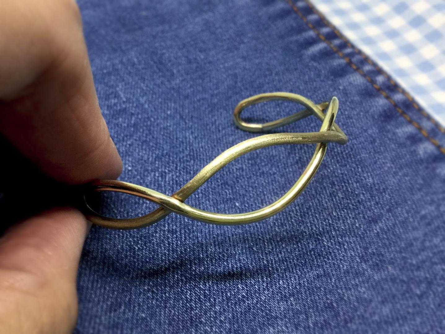 浪花 黃銅手環
