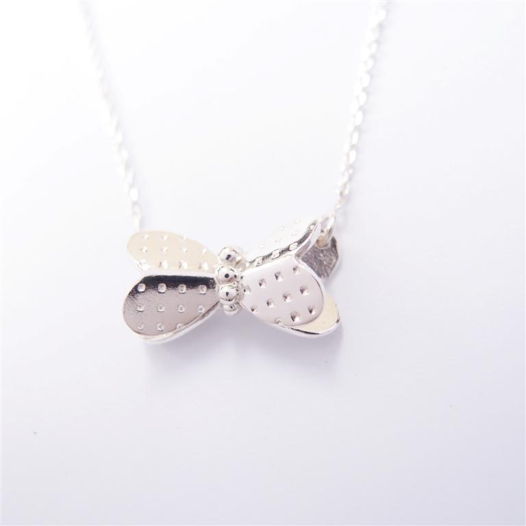蝴蝶結純銀項鍊