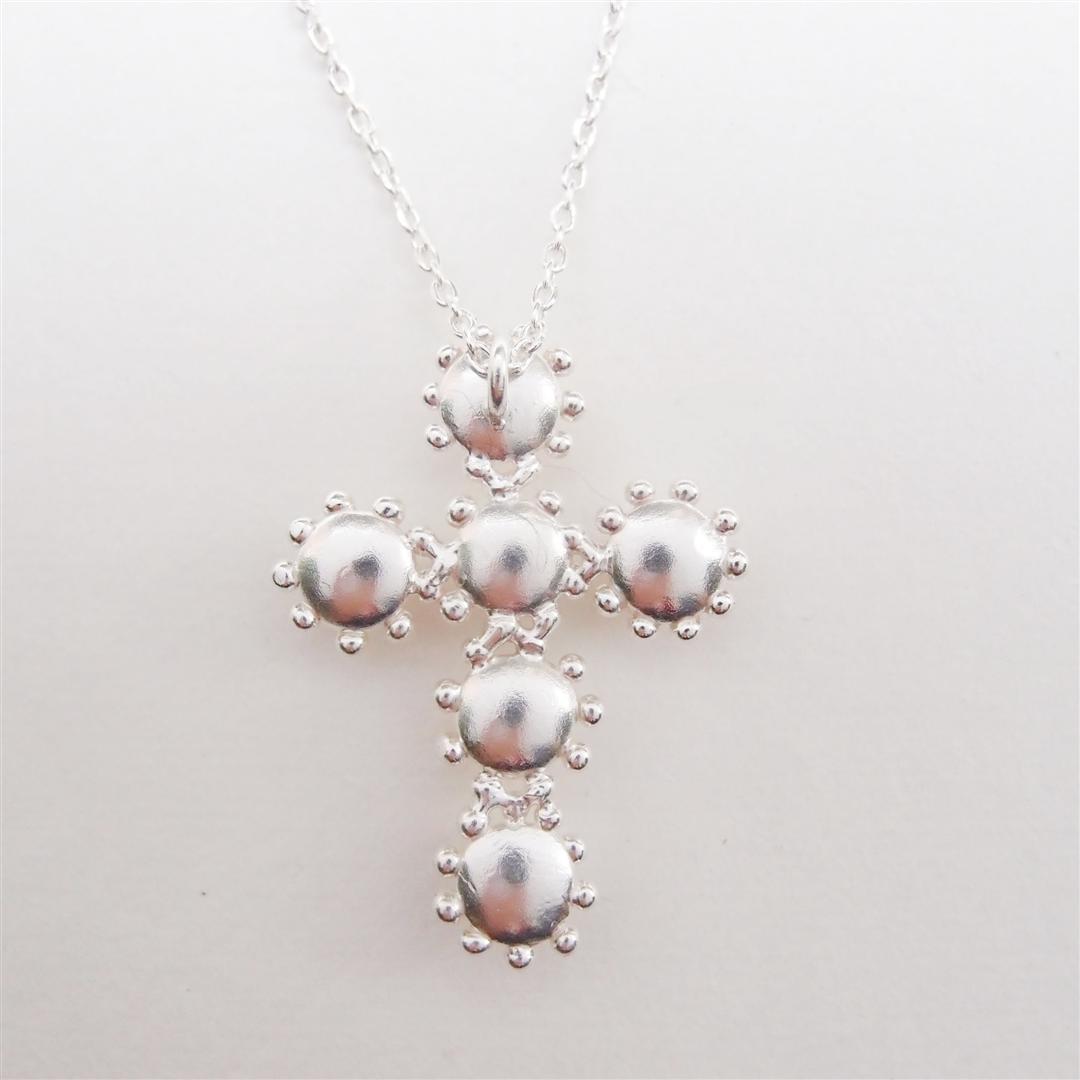 古典十字架珍珠   925銀項鍊