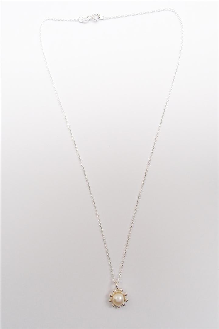 甜美珍珠   925銀項鍊