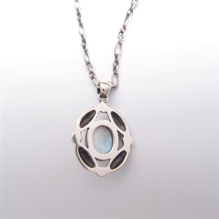 古典系列3     月光石925銀項鍊