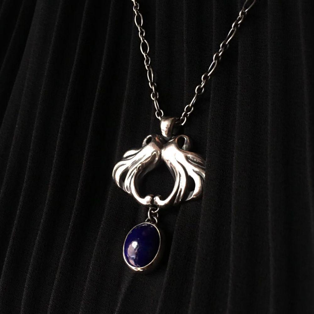 古典系列4     青金石925銀項鍊