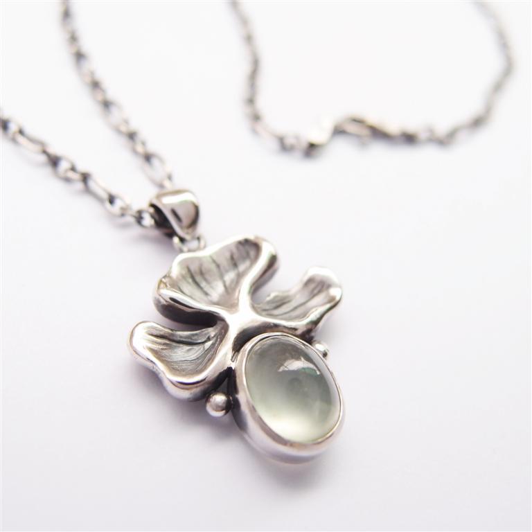 古典系列5    葡萄石925純銀項鍊