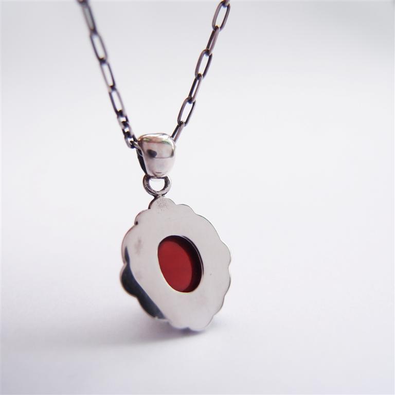 古典系列9    紅石榴石925銀項鍊