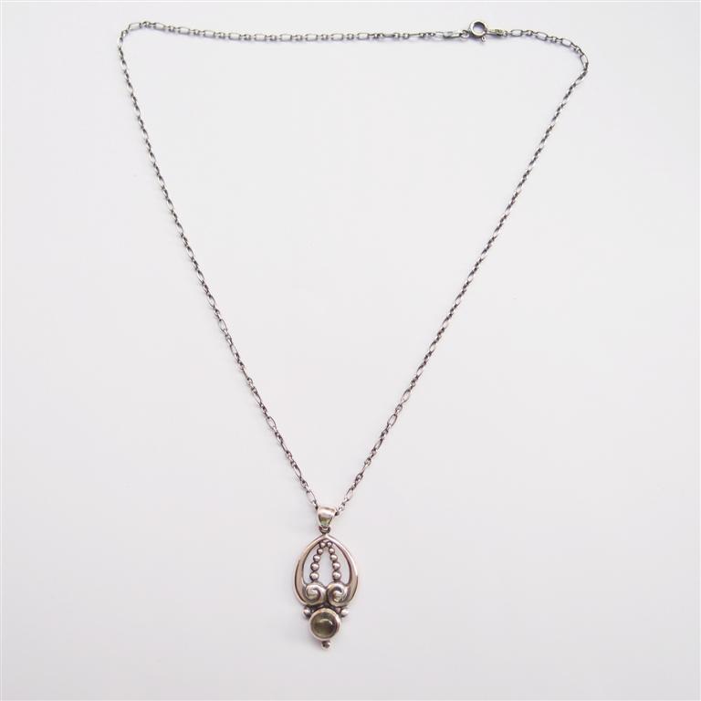 古典系列10    拉長石925銀項鍊