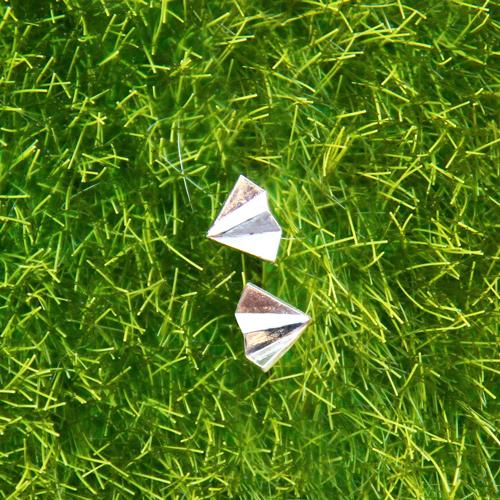 【手工銀飾】純銀小紙飛機耳環
