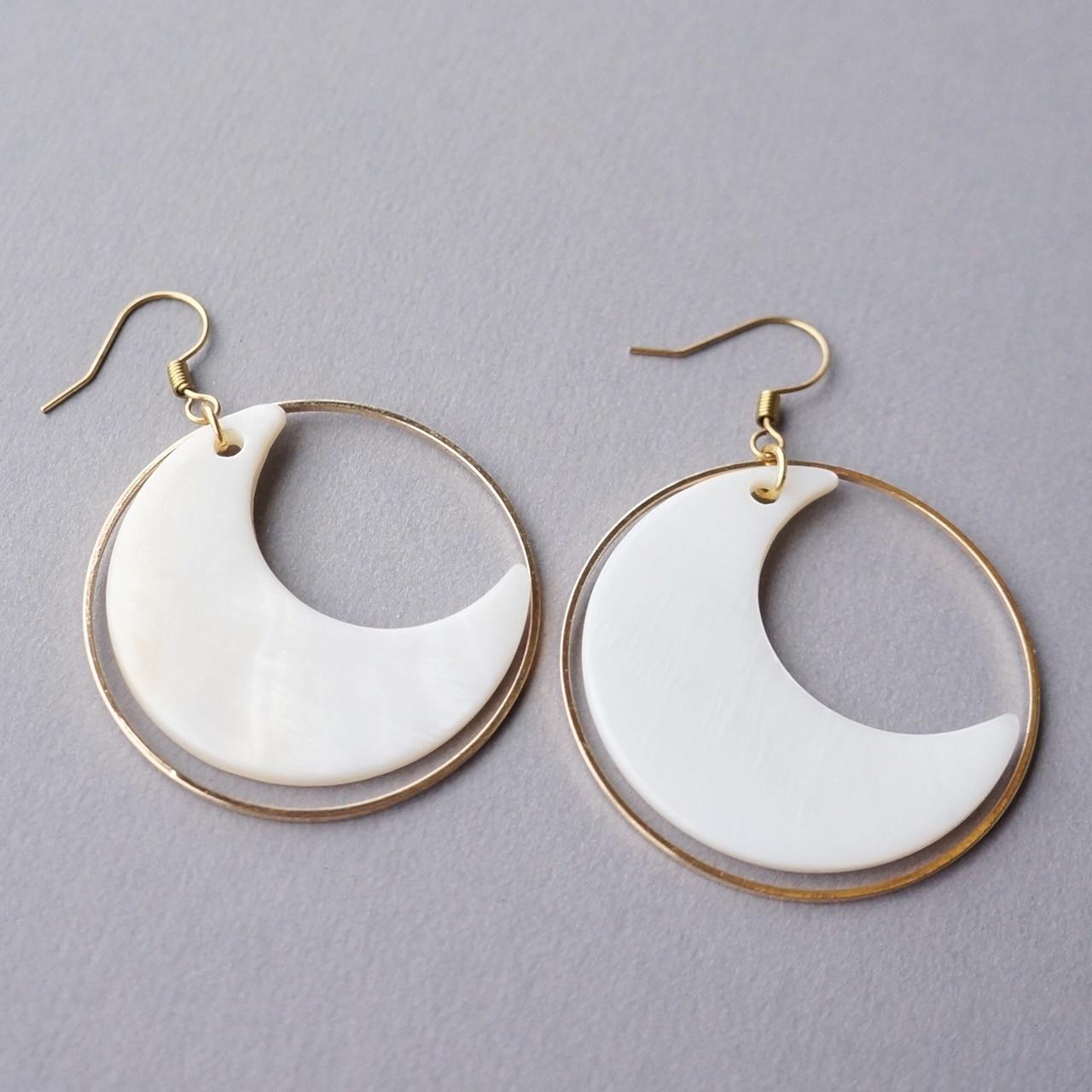 月光傳說貝殼耳環