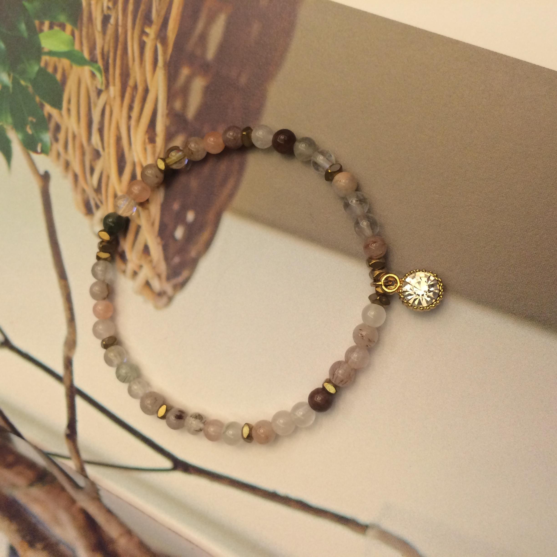 Phong-tshi no.19 髮晶 鋯石 天然石 手環 手鍊