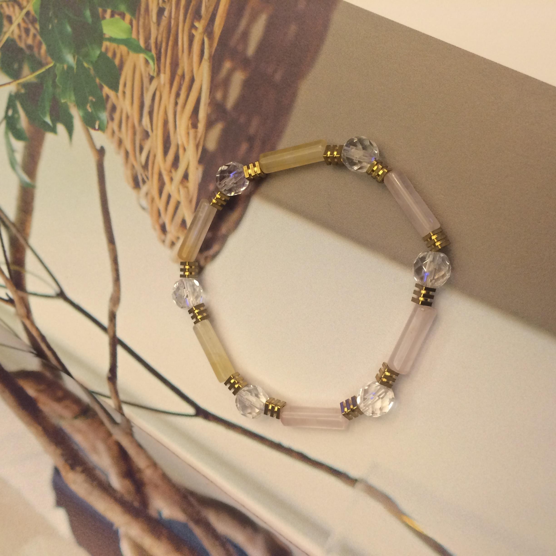 Phong-tshi no.25 水晶天然石形狀混搭 手環