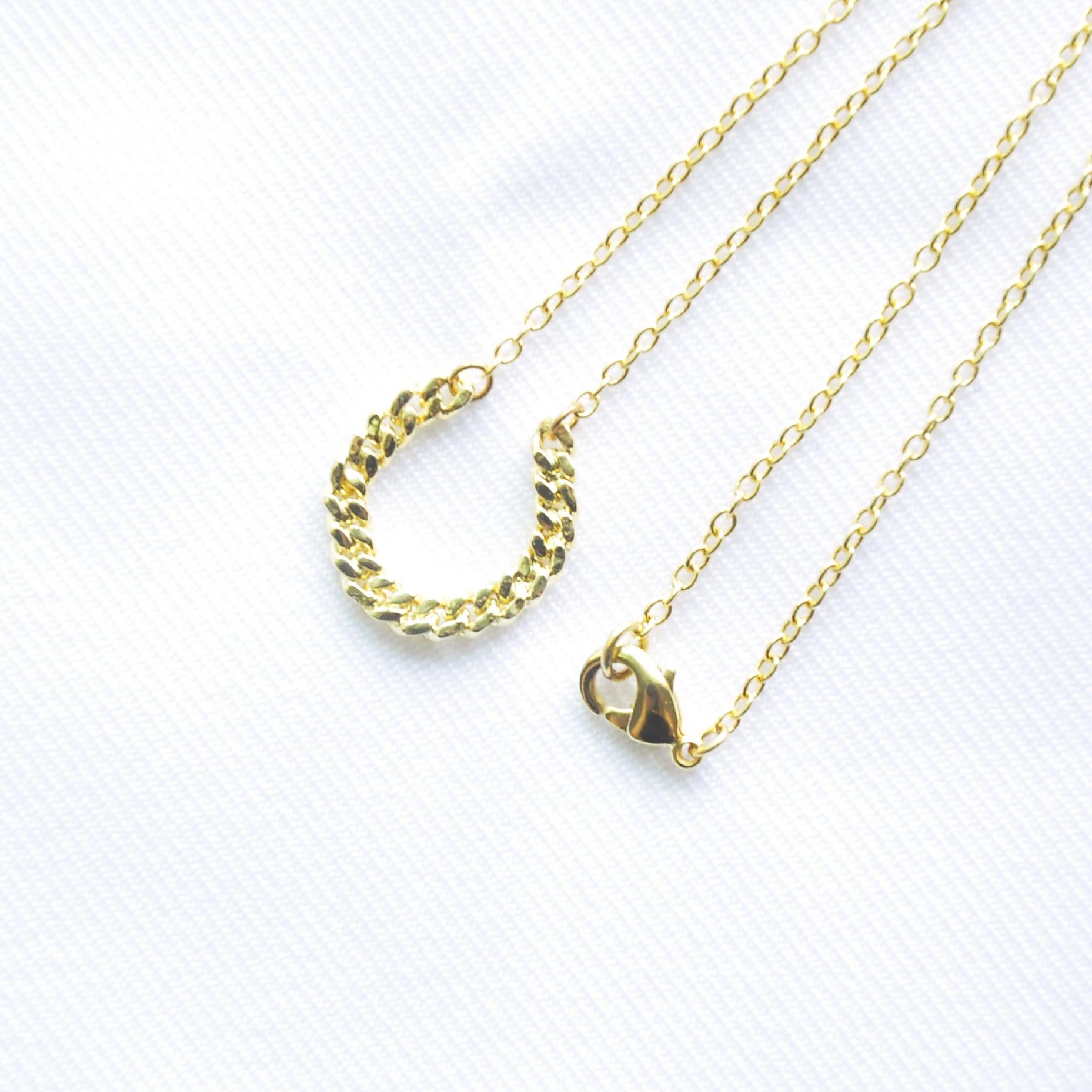 【波金的使者】金色鎖鍊-馬蹄鐵 項墜