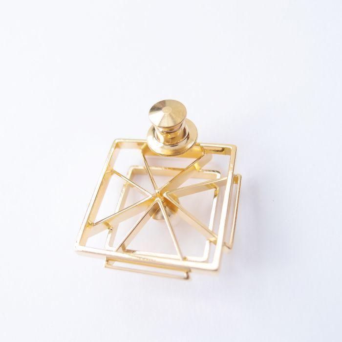 幾何風景12 金屬珍珠胸針