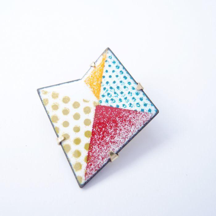 折學系列4 琺瑯金屬胸針