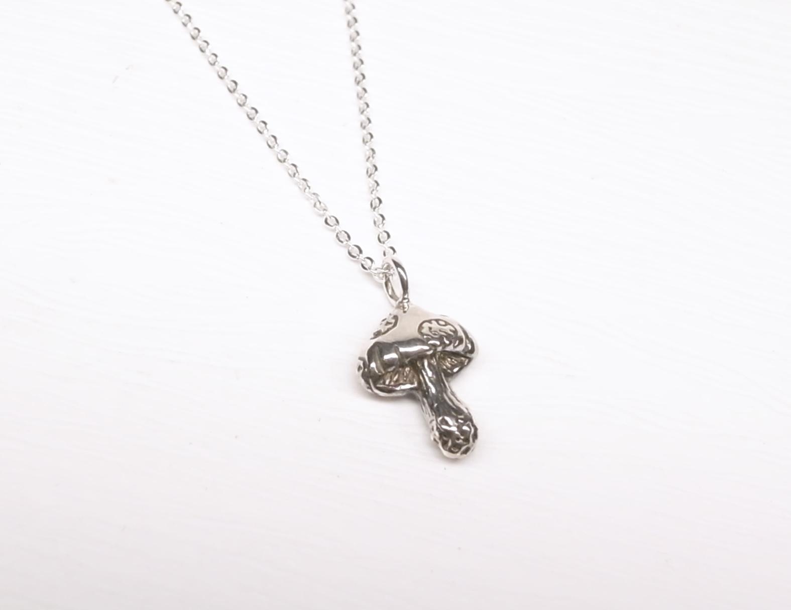 《二毛銀》【小香菇純銀小項鍊】(16吋)