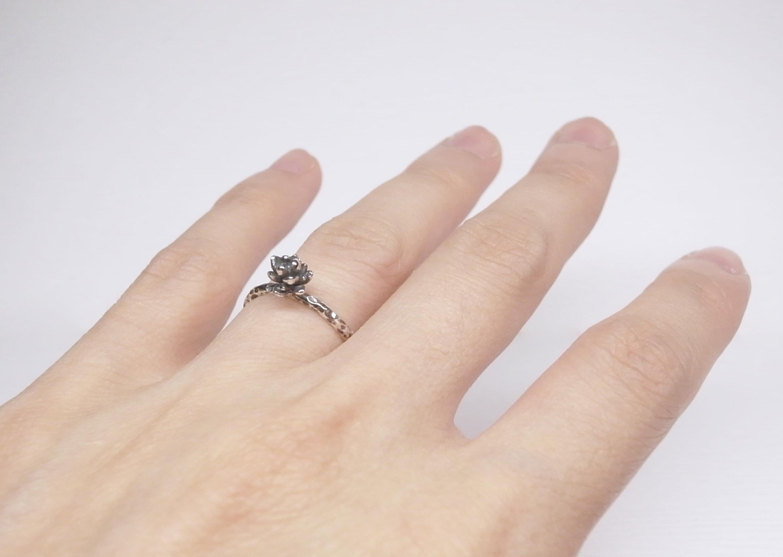 《二毛銀》【多肉系列-小多肉植物可調戒圍純銀戒指】