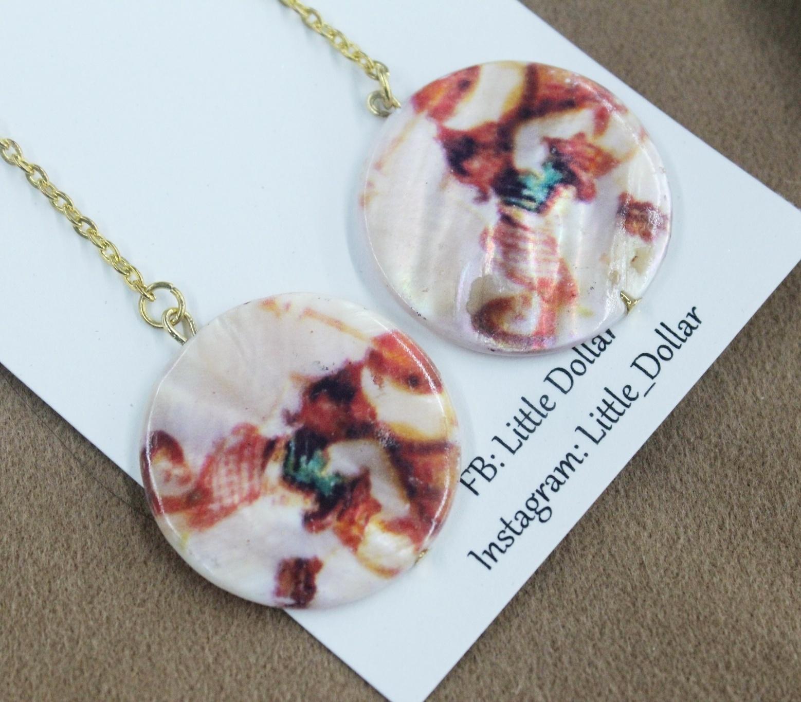 |貝殼|楓葉貝殼垂墜感耳環