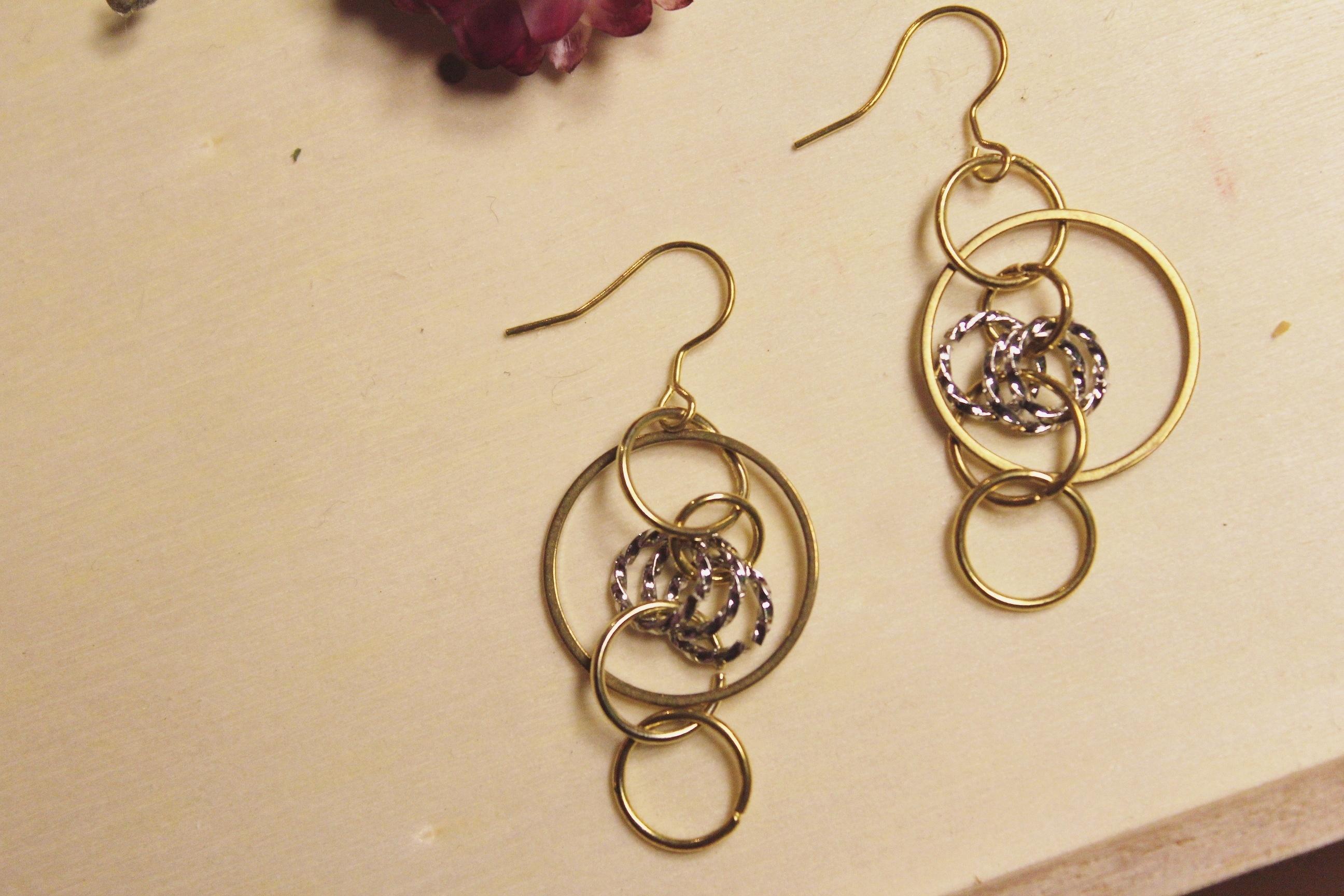 | 金色系 | 三銀圈金色耳環