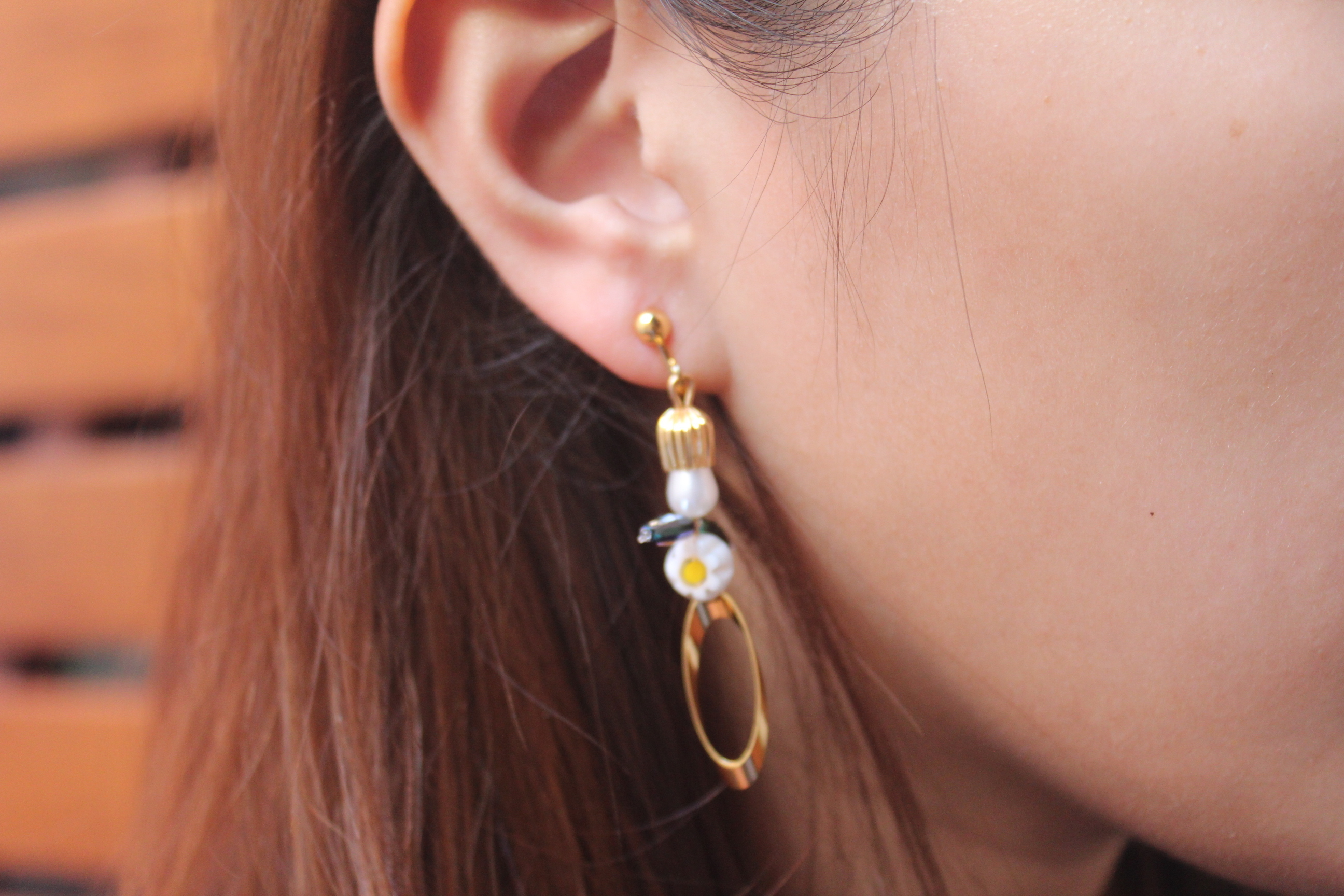 | 金色系 |金色小麥人耳環