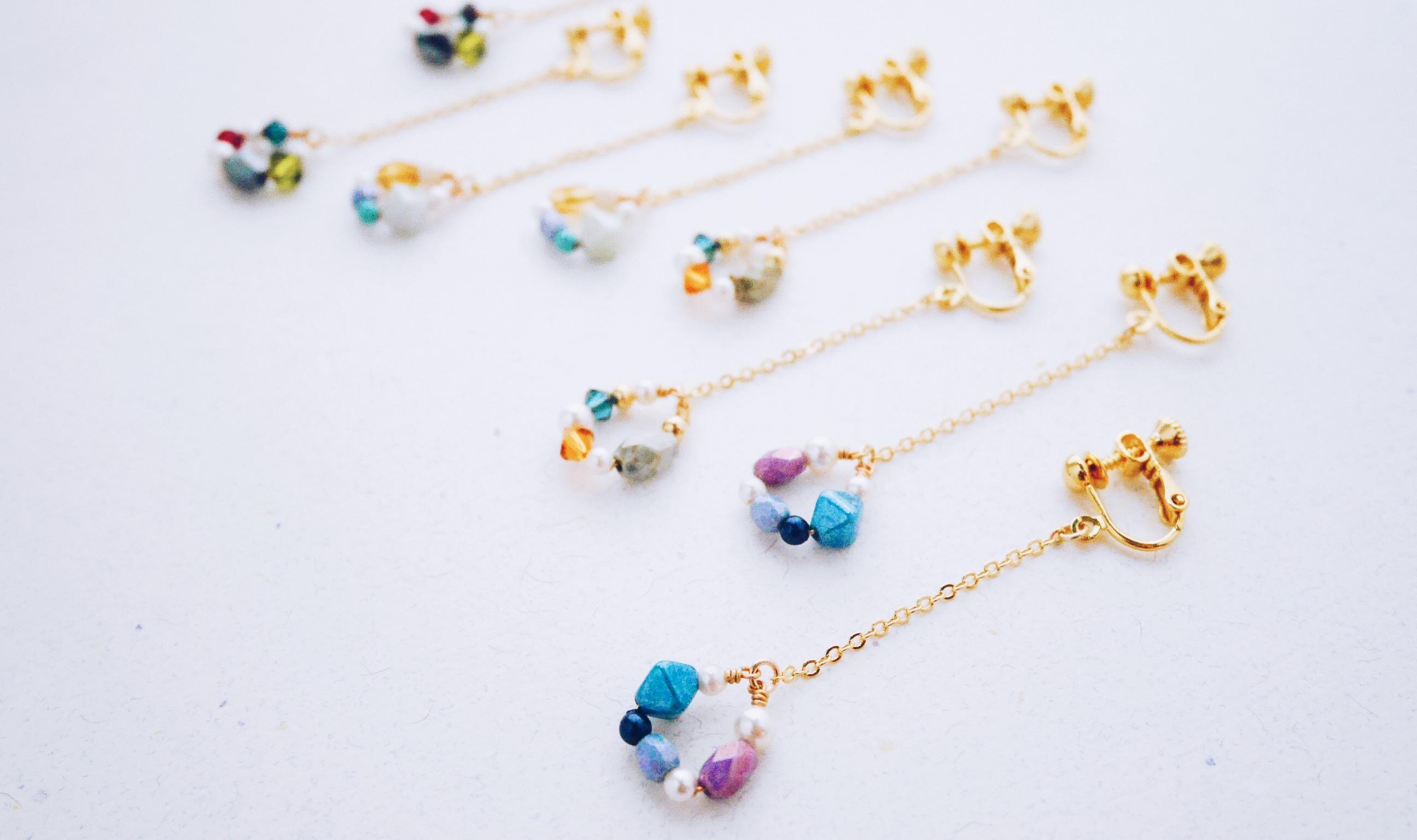 哀艷--藍紫色系水晶珍珠琉璃珠耳環