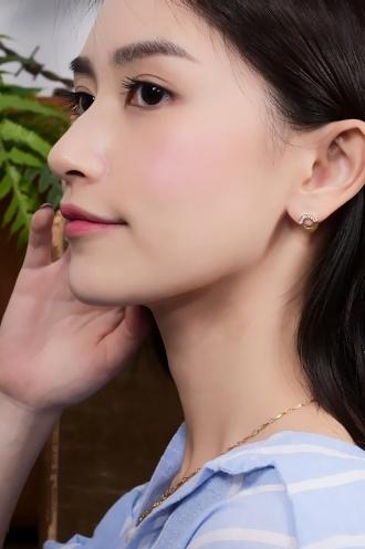 微曦光圈貼式耳環