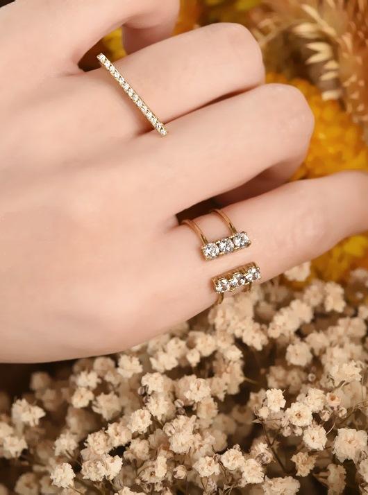 愛戀雙鑽戒指