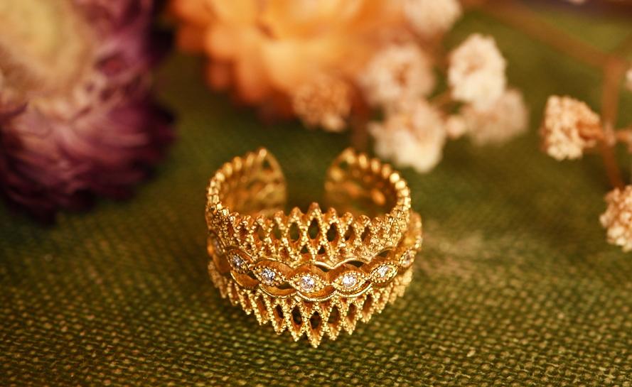 華麗古董蕾絲戒指