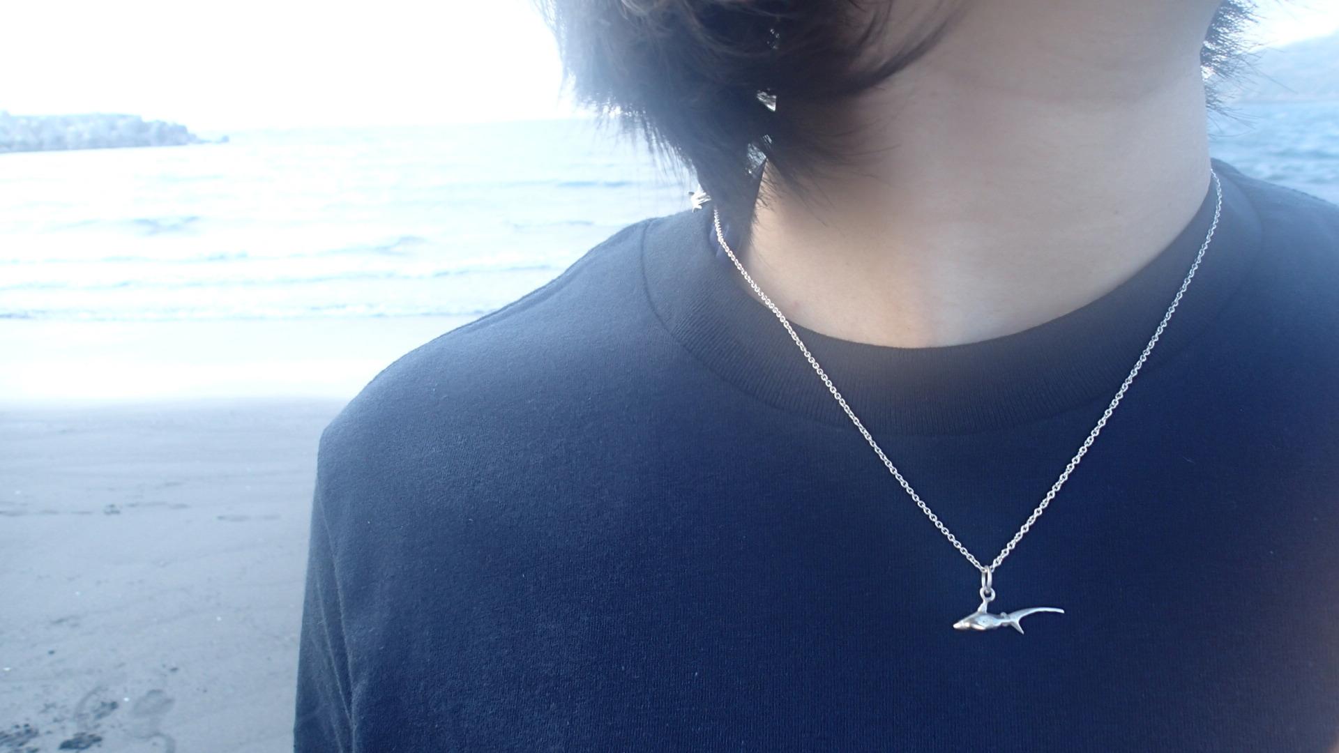 【Diving silver】925銀海洋潛水銀飾--迷你3D長尾鯊項鍊