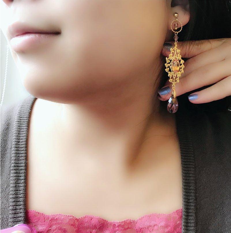 翡冷翠優雅 訂製施華洛世奇耳環