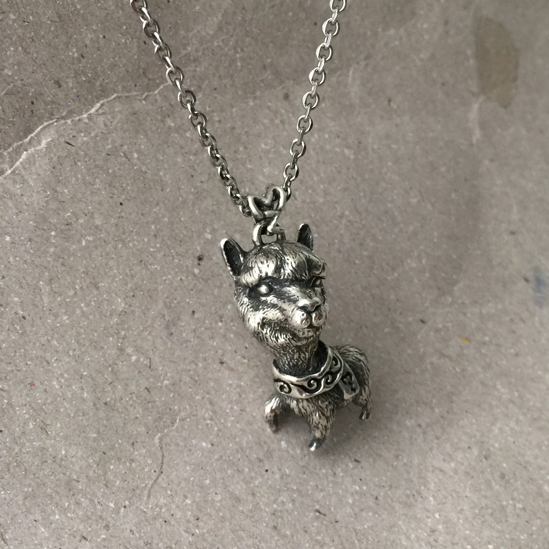 《暖暖羊駝》純銀項鍊