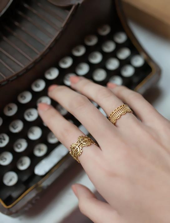 金碧蕾絲戒指