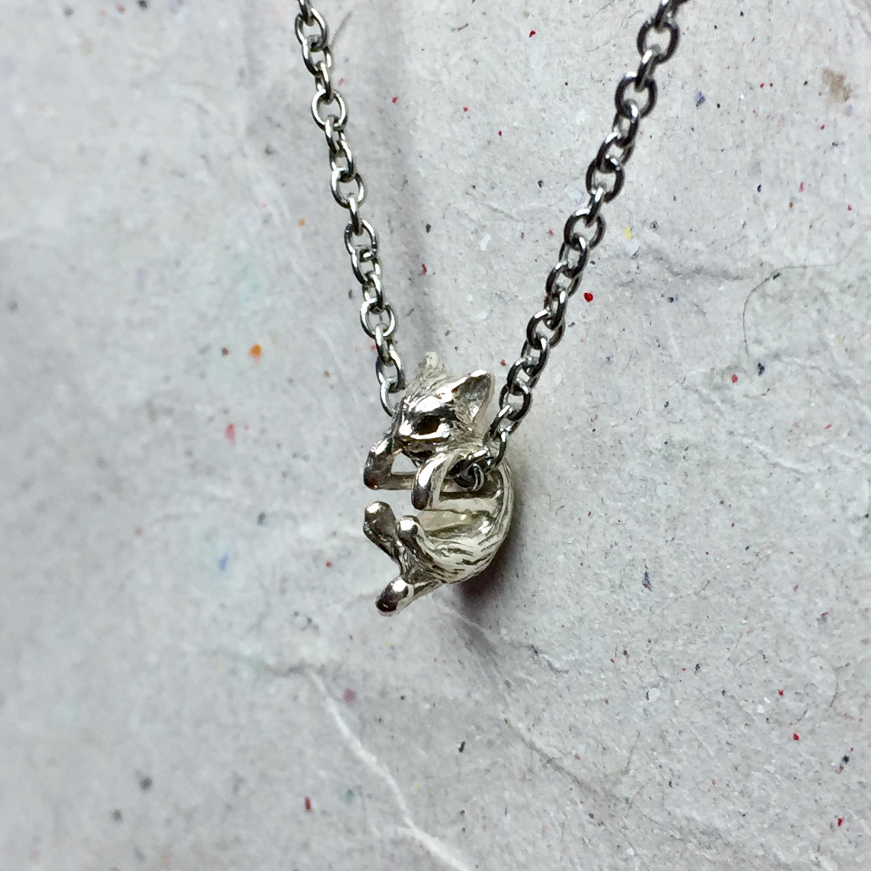 《迷你貓》純銀項鍊