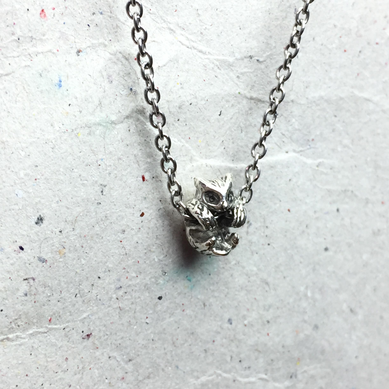 《迷你貓頭鷹》純銀項鍊