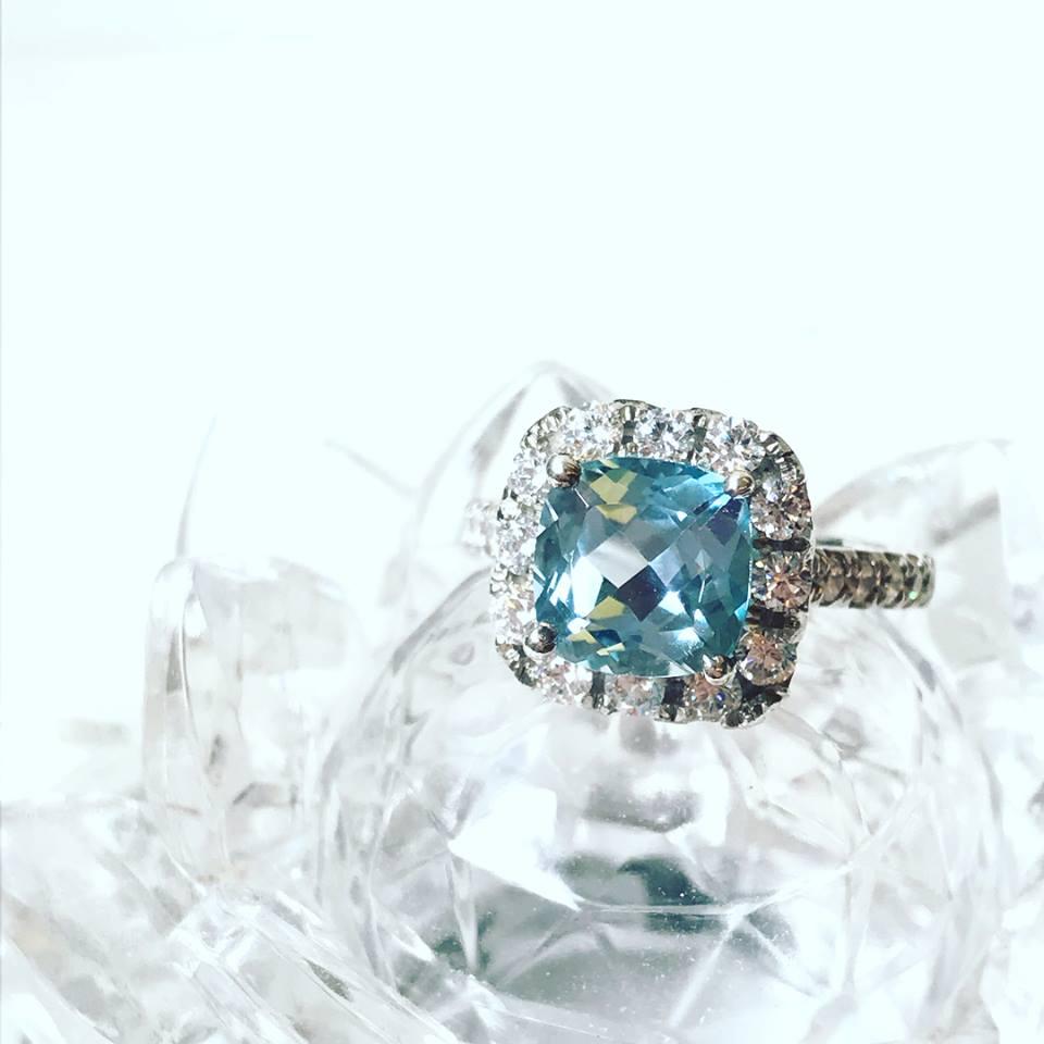 經典湛藍  拓帕石戒指