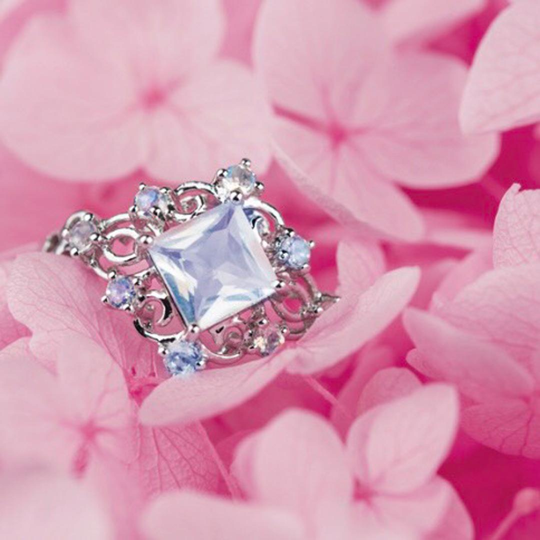 月光女王 月光石戒指