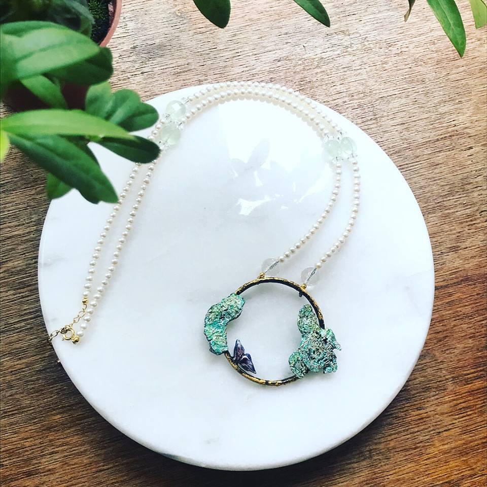 中藥系列 琺瑯長珍珠項鍊