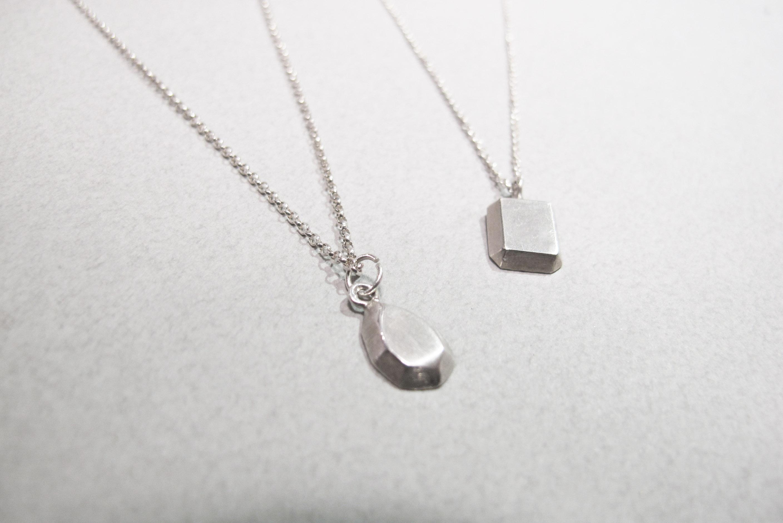 寶石切割系列-梨形 925銀項鍊_可刻一個英文字