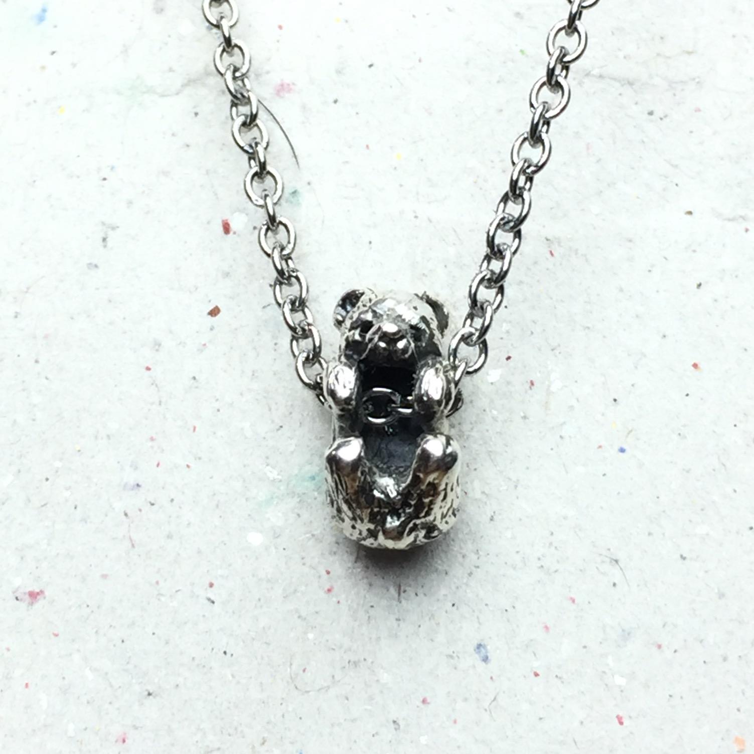 《迷你熊》純銀項鍊