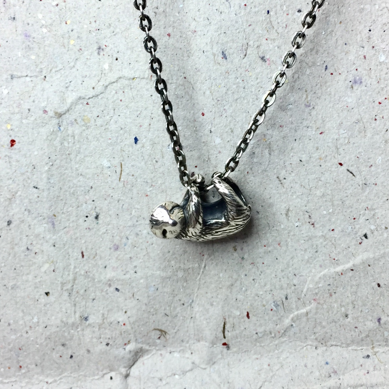 《樹懶》純銀項鍊
