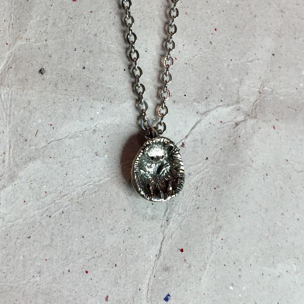 《刺蝟洋芋》純銀墜子